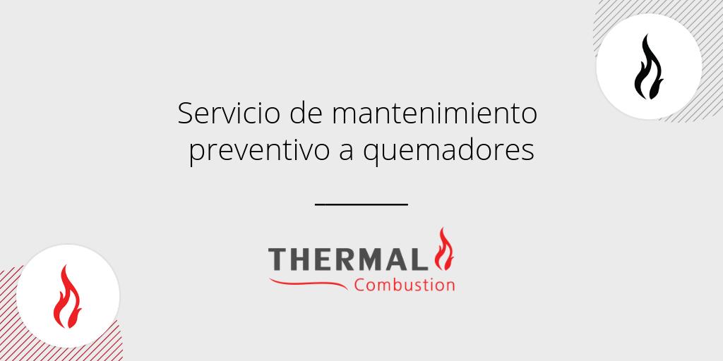Servicio de mantenimiento preventivo a quemadores